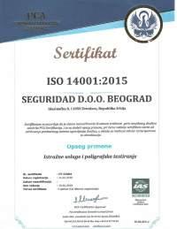 seguridad sertifikat iso 14001
