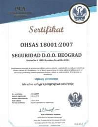 seguridad sertifikat ohsas 18001